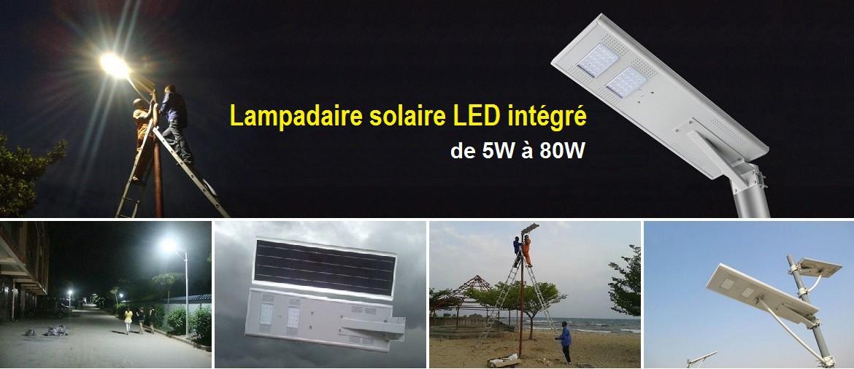 LAMPADAIRE SOLAIRE LED INTEGRE