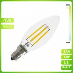 Ampoule LED Filament E14 - 4W - Jaune